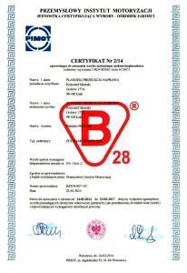 Certyfikat B