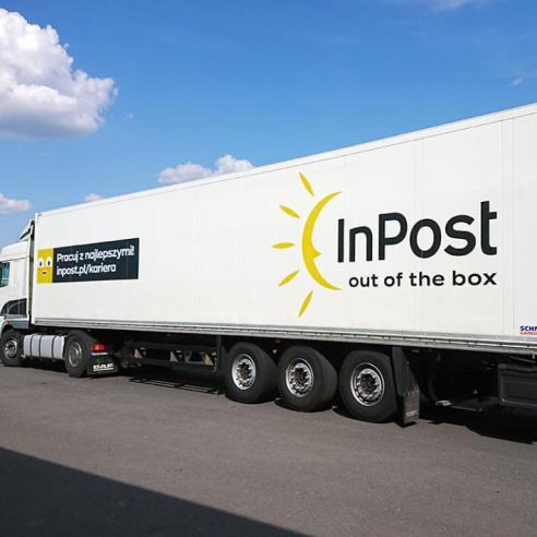 Oklejanie pojazdów InPost