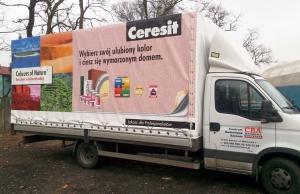 Reklama na plandekach (CERSANIT)