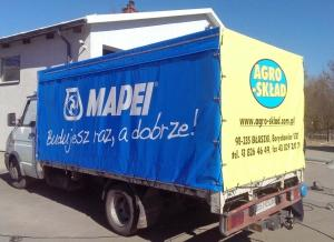 Reklama na plandekach (MAPEI)