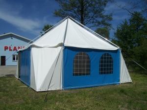 niebieski namiot