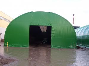 zielony namiot