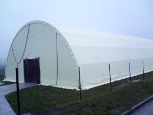 biały namiot